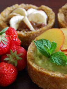 Tortini di frutta raw