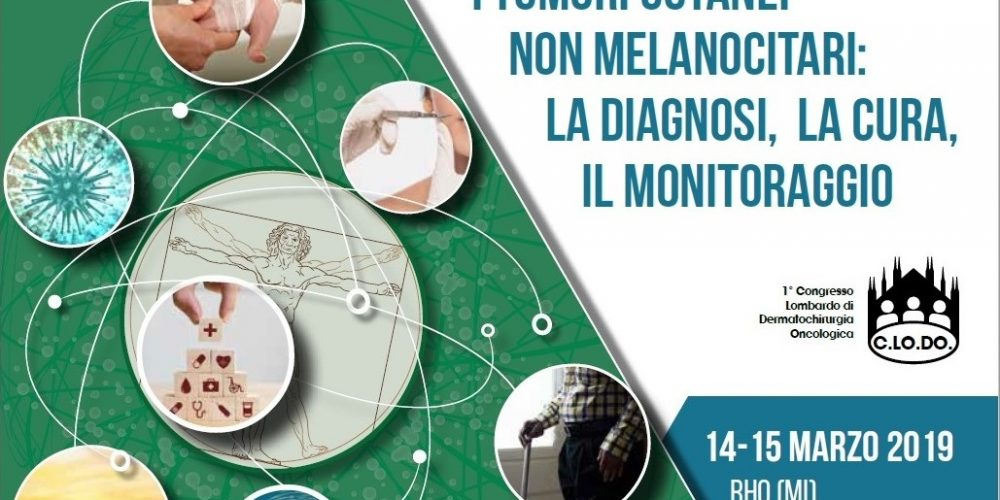 I tumori cutanei: congresso a Milano il 14-15 marzo 2019